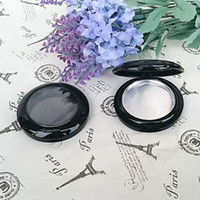 Wholesale Empty Round Case - Free shipping 100pcs lot Empty blusher case round aluminum pan Single Palette case Eyeshadow Make up