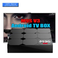 android smart tv v3 großhandel-Hot M9S V3 TV-Box Günstigste RK3229 Quad-Core 1 GB 8 GB Smart-TV-Box WiFi 3D HDMI Android 6.0 TV Günstige Set-Top-Box Media Player