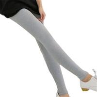 ingrosso collant donna carina-Leggings modali Europa Russia Tide donne tessuto stile preppy a maglia stretta vita attillata pantaloni alla caviglia caviglia sexy carino elastico formato libero
