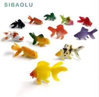 ingrosso animali da miniera giocattolo-Kawaii Simulazione animali modello pesce miniatura giardino Figurine accessori decorazione della casa Decor fata Pesciolino rosso artigianale Bonsai giocattolo