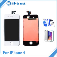 Wholesale pc display panel - 1 Pcs Grade AAA+++ Quality For iPhone 4 4g LCD Display Touch Screen Digitizer Assembly Replacement With Tools & Free Shipping