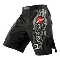 ropa para gimnasio al por mayor-MMA Pantalones cortos de boxeo para hombre Hombres ocasionales de verano sueltos GYM Fitness Shorts ropa masculina