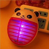 productos de panda al por mayor-Dibujos animados de animales panda mute LED luz catálisis, lámpara de mosquito electrónica miewenying repelente de insectos productos