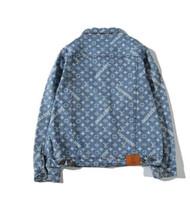 Wholesale long coats for men sale - Hot Sale Denim Jackets for Men The louis vuitton Denim brand Denim JEAN Jacket Coats M-XXL