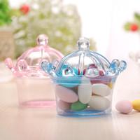Wholesale Food Colouring Colours - Crown Shape Candy Box Food Grade Material Plastic Colour Baby Shower Transparent Colour Classic Romance Gift Wrap 0 97sq V