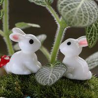 ingrosso piantando bambini in giardino-Scuola Carino 1 Pair Mini Giardino di Coniglio Craft Desk Set Decor Giocattoli Figurine Fata Giardino Dollhouse Pianta Scrivania Decor per Bambini Regalo