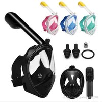 Wholesale dive rings wholesale - Adult Teenager Diving Mask Underwater Scuba Anti Fog Full Face Diving Mask Snorkeling Set with Anti-skid Ring Snorkel mask m773