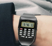 Wholesale electronic children silicone watch - Classic Digital Calculator Watch Silicone Date Multipurpose Fashion Child Electronic Watch Holiday Gift Colorful and dhl free