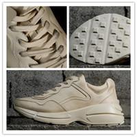 últimas zapatillas de deporte superiores al por mayor-Descuento barato Zapatillas de deporte Rhyton Vintage Trainer Compre las últimas modas de lujo de los mejores diseñadores yakuda, zapatillas de cuero, zapatos de ocio casuales