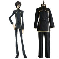 Wholesale Code Geass Lelouch Cosplay Costume - free shipping Code Geass Lelouch Lamperouge School Uniform japanese anime CODE GEASS Lelouch cosplay costum