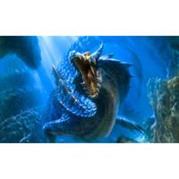 animaux de verre modernes achat en gros de-5D Diy diamant peinture point de croix 3D diamant broderie décoration de la maison artisanat strass peinture, serpent de dragon de crocodile