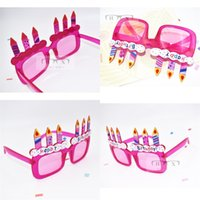 Wholesale cake supplies online - Birthday Glasses Candle Cake Modelling Party Prop Supplies Gift Eyeglass Funny Spectacles Pink Plastic Decorate Hot Sale sf V
