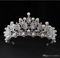 ingrosso decorazioni della corona della principessa-Capelli di bellezza Tiara Princess Strass Crystal Bridal Crown Hairband catena Tiara Vine gioielli decorazione per la festa nuziale