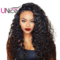 Wholesale wavy hair curling resale online - UNice Hair Virgin A Water Wave Brazilian Hair Bundles Unprocessed Human Hair Weaves Cheap Nice Curl inch Wet And Wavy Weaving