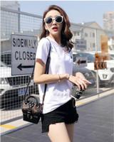 women t shirts china großhandel-China größe Gute Qualität Hemd Heißer Verkauf Mode Frauen t-shirt Damen Baumwolle T-shirt Plue Größe Kurzarm Femme Stil Modell