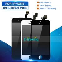 iphone 5c 5s lcd venda por atacado-Display lcd para o iphone 5 5s 5c 6 6 plus touch screen substituição digitador assembléia painel de toque lcd 100% testado