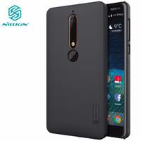 nillkin schild fall großhandel-Großhandel für Nokia 6 2018 Fall für Nokia 6 2017 Nillkin Super Frosted Shield Matte Rückseite mit kostenlosen Displayschutzfolie