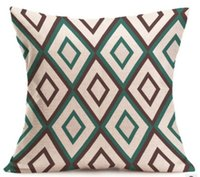Wholesale triangle case resale online - Size cm style geometric triangle printed pillow case soft simple pillows for hotel home decor pillow cover wasit cushion pillow