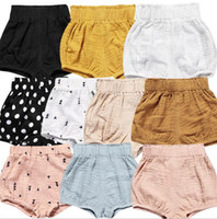Wholesale kids diapers resale online - 12 styles Ins New Baby Shorts Toddle boys girls ins short summer baby kids loose Newborn comfortale Diaper Boutique Underpants Clothes