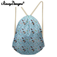Wholesale shcool bags for sale - Group buy NOISYDESIGNS Cartoon Pattern printing Drawstring Backpack for girls Daypack for Kids cute shcool bags Infantil
