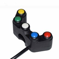 Wholesale switch for handlebars for sale - Group buy 12V Motorcycle quot mm Handlebar Switches Headlight Hazard Brake Fog Lights Horn ON OFF Start Switch