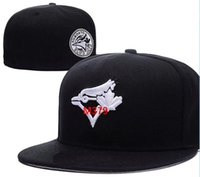 Wholesale pink dot paper - Blue Jays Team Fitted hats Baseball Embroidered Team Letter Flat Brim Hats Baseball Size Caps Brands Sports Chapeu for men and women