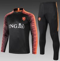 uniforme de formation achat en gros de-Combinaison d'entraînement Holland 2018 Joggingpak 18/19 survêtement de football Uniform Nederland Robben SNEIJDER V.PERSIE MEMPHIS Maillots d'entraînement