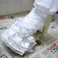 Wholesale ivory designer wedding dresses for sale - Group buy Dog Wedding Dresses Elegant Design Dress Bowknot White Pet Princess Dress With Veil Summer Pets Clothing Supplies mc ff