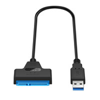 Wholesale 22 Pin SATA To USB Inch Hard Drive Adapter Cable Converter For quot Laptop HDD SSD cm Length