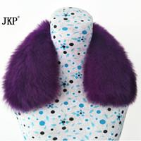 черный мех украл обернуть оптовых-Goods  Fur Collar For Warm Scarf Wraps Women's Wraps Stole Shrug Wholesale Hot Sale Warm Collar Scarf Ring Black Women's