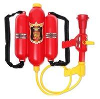 wasser-blaster-pistolen groihandel-Feuerwehrmann Rucksack Wasserpistolen Spielzeug für Kinder Sommer Schwimmbad Spiel Strand Sand Wasser Blaster Spielzeug Jungen Mädchen Erwachsene
