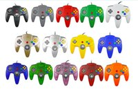Wholesale nintendo 64 games online - USB Long Handle Game Controller Pad Joystick for PC Nintendo N64 System Color in stock