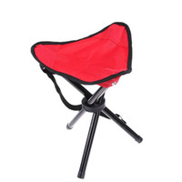 Wholesale camping chairs folding for sale - Group buy Three Legged Stool For Outdootr Camping Hiking Folding Chair Seat Easy To Carry Thicken Fishing Stools Factory Direct Sale at B