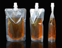 auslaufbeutel großhandel-250 ml Stand-up Kunststoff Trinken Verpackung Beutel Auslauf Beutel für Saft Milch Kaffee Getränke Flüssigkeit Verpackung tasche Trinken Beutel