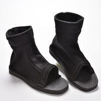 Wholesale ninja naruto - 1 Pair Ninja Shoes Boots for Naruto Akatsuki Black Cosplay 11 Sizes gowellhopeday