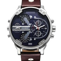 бренд двойной оптовых- Men Quartz Wrist Watch Dual Movement Sports Watch CAGARNY Man Casual Watches Relogio Male Relojes Clock Men