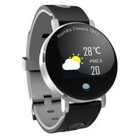круглые дисплеи оптовых-Многофункциональный Y6 Плюс Smartwatch Артериального Давления Сердечного Ритма Секундомер Спортивный Режим Smart Watch Мужчины Женщины Круглый Большой Дисплей Браслет