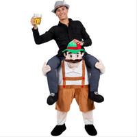 komik süslü kıyafet kostümleri toptan satış-Bana Yenilik Maskesi Kostümleri Carry Geri Komik teddy bear Hayvan Pantolon Fantezi Giydir Oktoberfest Cadılar Bayramı Partisi Cosplay Kostümleri