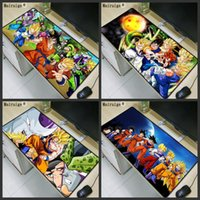 Wholesale large rubber balls - Mairuige Dragon Ball Anime Character Print High Quality Rubber Anti-slip Keyboard Pad Notebook Large Size Game Mouse Pad 40*90CM