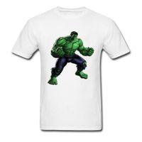 hombres varoniles al por mayor-Hulk Avengers Alliance 2018 Supermen T Camiseta Algodón Blanco Tees 3d Gráfico Impreso Tops Hombres camiseta Manly Streetwear