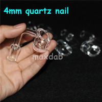 Wholesale quartz nail honey resale online - 100 Pure Degrees Quartz Banger Nails mm Honey Buckets Bubbler Quartz Nail Female Male Domeless Nail mm mm mm Joint