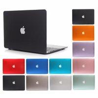 elma hava kitabı toptan satış-YENI Temizle Şeffaf Kristal Kılıf Apple Macbook Air Pro Için Retina Mac kitap Için 11 12 13 15 Laptop Kapak 13.3 inç