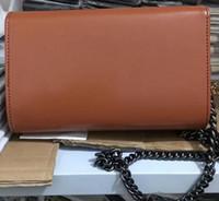 женщины черный патентный кошелек оптовых-Бесплатная доставка 2018 новый стиль Vogue женская лакированная кожа сумки Сумка Черная цепь сумка кошелек 7 цветов