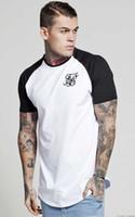 erkek beyaz ipek gömlek toptan satış-Erkekler Yaz T-Shirt Beyaz Yeşil ss Sik Ipek Kanye West Erkekler Casual Hip Hop Düzensiz Kavisli Hem Kısa Kollu T-Shirt M-2XL