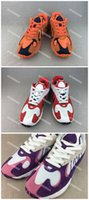 Wholesale dragon ball z pvc - oku Kanye Wes2018 YUNG-1 Frieza Hi-Res Orange Son Gt 700 Wave Runner Dragon Ball Z Running Sneaker Size 36-45