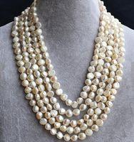 ingrosso perle originali per il matrimonio-Collana di perle autentiche, collana di perle d'acqua dolce naturale lunga 8-9mm, lunga 100 cm, gioielli di perle di moda per donna