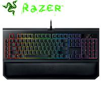 apoyos del teclado al por mayor-Razer BlackWidow Chroma V2 Cableado Teclado para juegos RGB Ergonomía Magnética Adsorción Resto de muñeca Interruptores verdes Teclado mecánico
