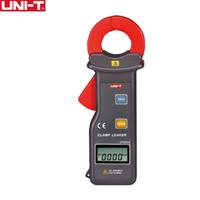 grampo uni t venda por atacado-UNI-T UT251A / UT251C Alta Sensibilidade Leakage Atual Clamp Meter; Transmissão de Dados RS-232 / Armazenamento de Dados, Desligamento Automático