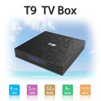mídia android hdmi usb venda por atacado-QUENTE T9 CAIXA de TV 4 GB 32 GB RK3328 4 K Quad Core Android 8.1 TV BOX WIFI USB 3.0 Media Player