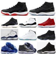 Wholesale Leather Cap Woman - High Quality 11 11s Space Jam 45 Gym Red Win Like 96 Basketball Shoes Men Women 72-10 Bred Concord Cap And Gown Sneakers With Shoes Box